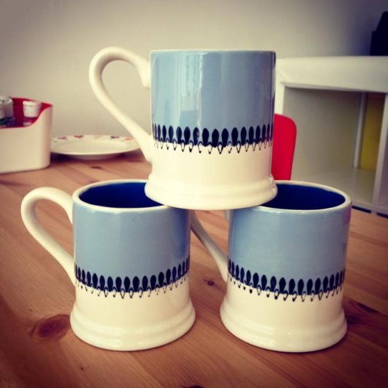 Group pottery painting experience - painted mugs