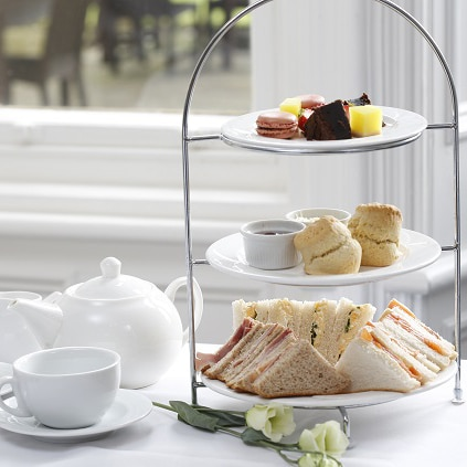 Afternoon tea for two at Burn Hall Hotel near York