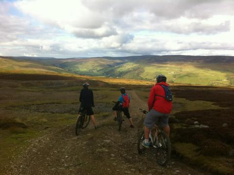 Guided mountain biking or road cycling in the Yorkshire Dales