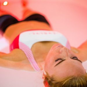Infrared sauna and floatation tank session