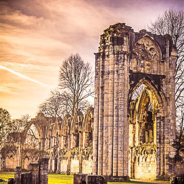 St Mary's Abbey in Yorlk by Stewart Waite