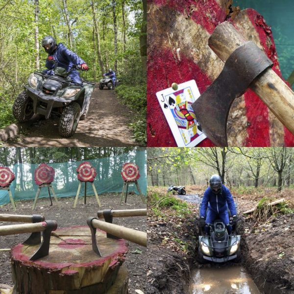 Quad Biking and Axe Throwing Package near York & Leeds