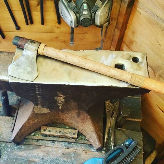 Axe making Forge Bladesmithing