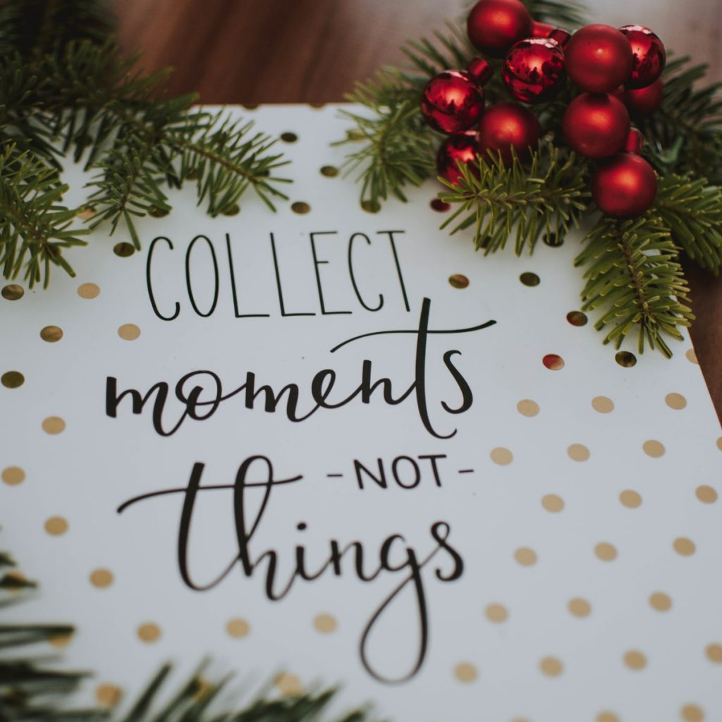 Christmas Gift Experiences - Give experiences not stuff!