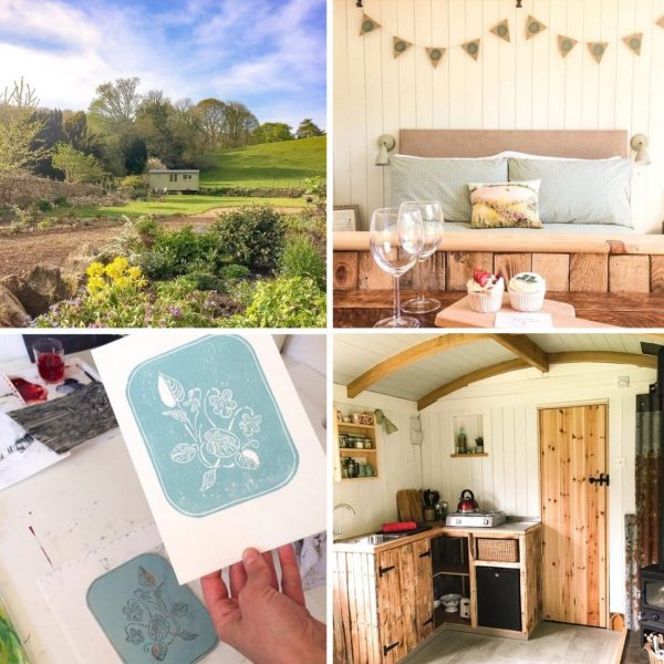 Shepherds Hut Stay with Lino Printing Workshop