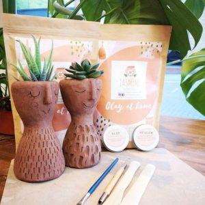 Clay Plant Pot Pottery Kit - Clay at Home Experience